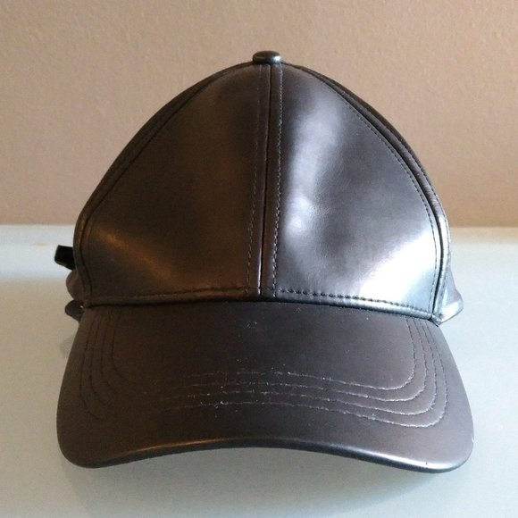 Cotton On Soft Faux Leather Black Cap